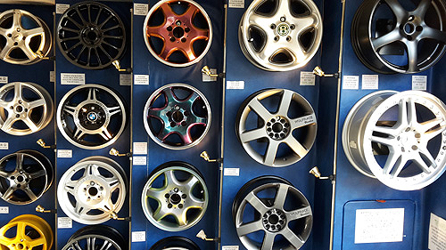 Wall of wheels